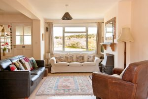 lounge view from the Pink House Lulworth Holiday Home Accommodation