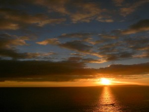 spectacular sunsets on the sea over Durdle Door