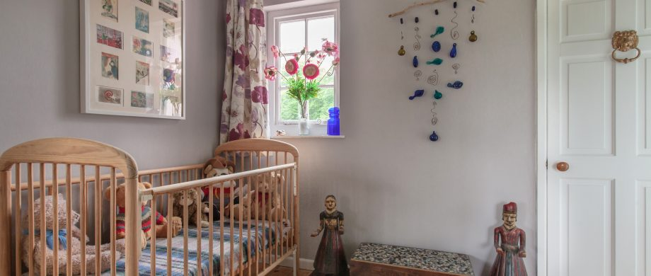cot room at The Pink House Lulworth Dorset