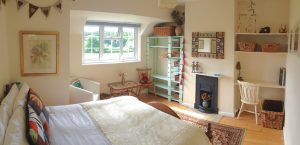 front double bedroom at The Pink House Lulworth holiday home sleeps 8