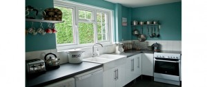 country style kitchen at The Pink House Lulworth