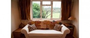 double sofa bed with lovely view at The Pink House Lulworth