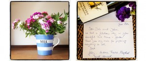 thank you note from happy holiday guests staying at The Pink House Lulworth