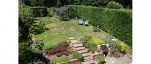 lovely garden to relax and enjoy at The Pink House Lulworth