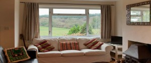 picture front views from the lounge window at The Pink House Lulworth Dorset
