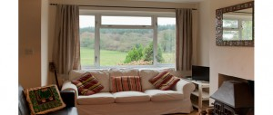 picture front views from the main lounge window at The Pink House Lulworth