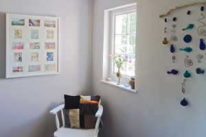 ecycled arts, crafts and patchwork cushions at your holiday home from home The Pink House Lulworth