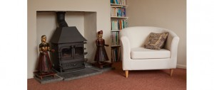 traditional log burning stoves for cosy comfort at The Pink House Lulworth Dorset