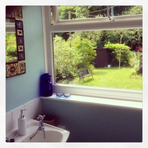 view-from-the-bathroom-window-at-The-Pink-House-Lulworth-Dorset
