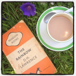 a good book and a cup of tea at The Pink House Lulworth Dorset