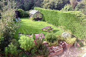 garden at The Pink House Lulworth