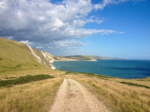 walking the Jurassic Coast back to The Pink House Lulworth