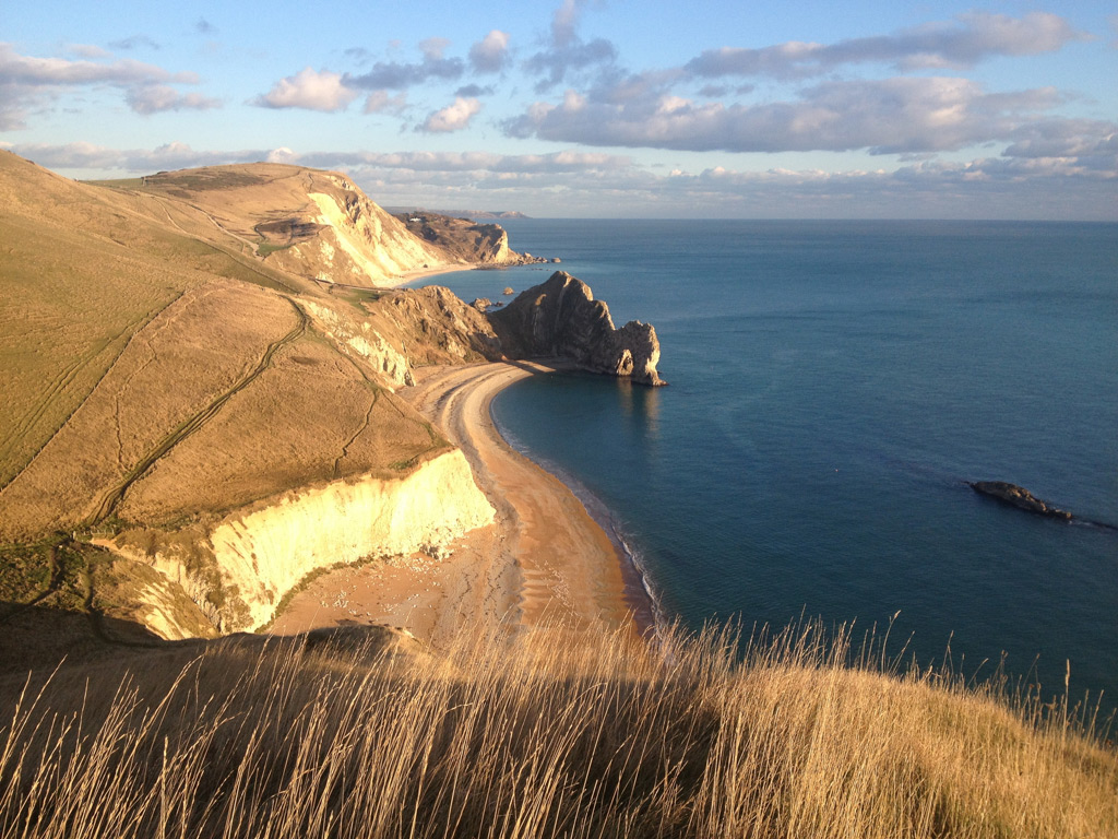 Durdle Door on the south west coast path is just a few kilometres from The Pink House Lulworth