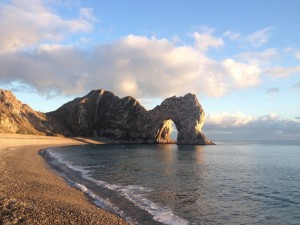 Durdle Door is an iconic natural limestone arch just a short distance from The Pink House Lulworth