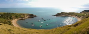the famous horse shoe shaped cove at Lulworth