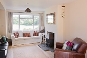 fantastic views over Dorset countryside from The Pink House Lulworth holiday home accomodation by the sea