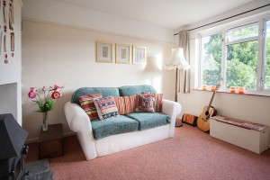 double sofa bed in the snug downstairs offers an extra bedroom as well as additional lounge and chill out zone