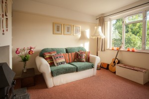 fold up double sofa bed in the snug downstairs offers an extra bedroom as well as additional lounge and quiet zone