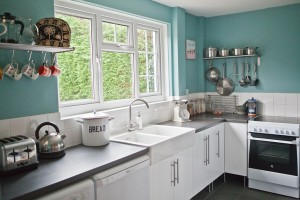 country style kitchen at The Pink House Lulworth Dorset