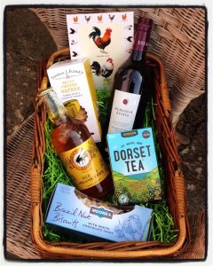 welcome to our holiday home with local Dorset treats