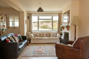 view from the lounge of The Pink House Lulworth Holiday Home Accommodation