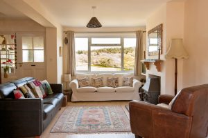 lounge view at The Pink House Lulworth Holiday Home Accommodation
