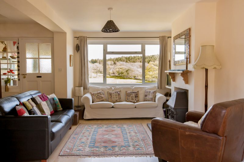views from The Pink House Lulworth holiday home accommodation