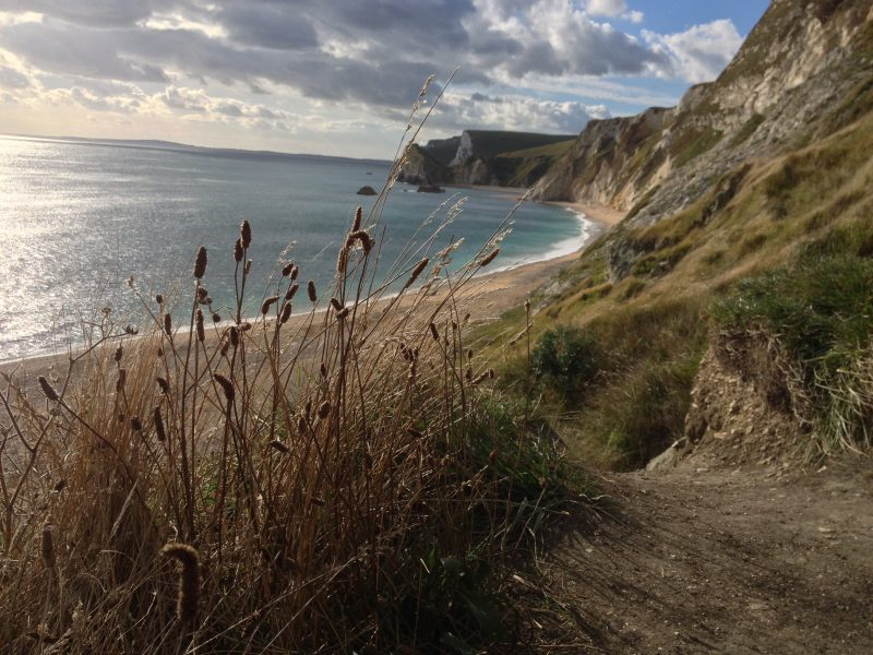 autumn visits to The Pink House Lulworth Dorset
