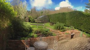 garden at The Pink House Lulworth holiday home accommodation