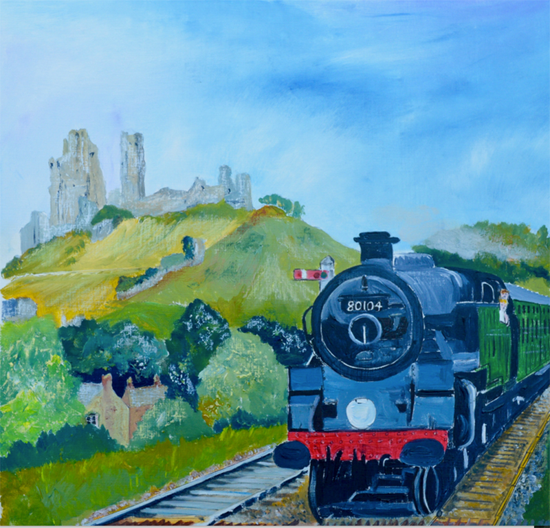 swanage steam train from Wareham Dorset