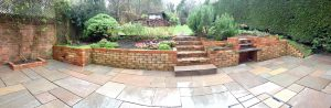 Indian Sandstone Patio at The Pink House Lulworth