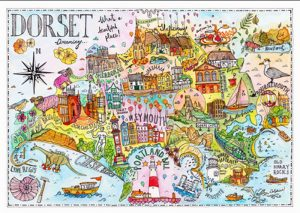 colourful reminder by Katherine Kannon of how beautiful the county of Dorset is